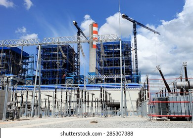 Coal fire Lignite power plant and 500 kV switchgear under-construction