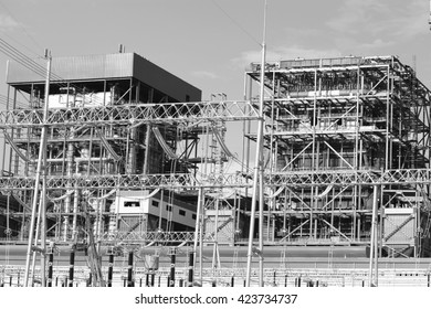 Coal fire Lignite power plant and switchgear under-construction