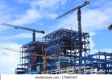 Coal fire power plant under construction.
