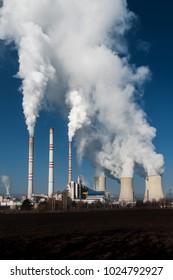 coal fired power station , Pocerady, Czech republic