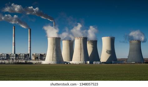 coal fired power station, Pocerady, Czech republic