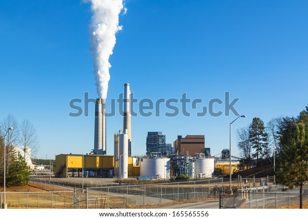 Coal fired  steam station on Belews Lake, North Carolina, owned by Duke Energy,