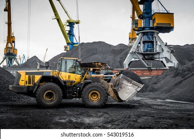 Coal handling operations at the port.