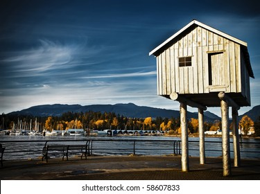 Coal Harbour in Vancouver during fall