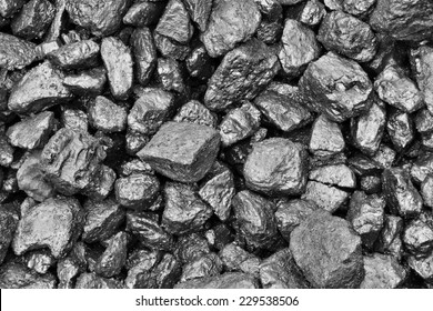 Coal mine deposit mineral black cube stone after the rain