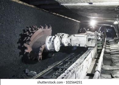 Coal mine excavator underground