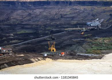 coal mine with excavators and machinery Kostolac Serbia