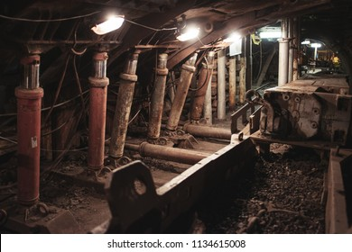 Coal mine interior