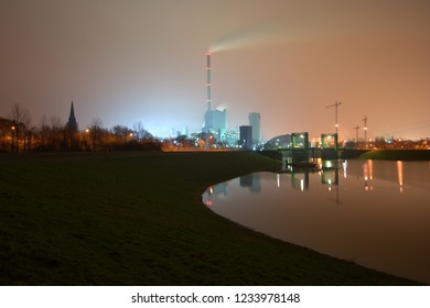 A coal mine and power station near Duisburg, Germany.