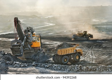 Coal mine is risk area.Many heavy metals released in the mining and burning of coal are pollution but coal is importance equipment for construction industry especially in steel factory use it as fuel