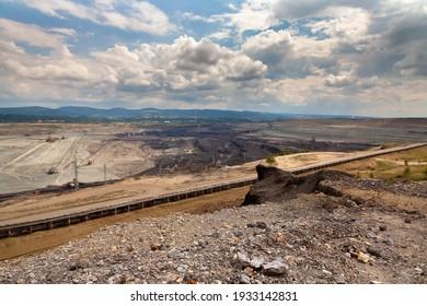 Coal mine, Sokolov,Czech Republic. Polluted environment.