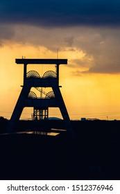 coal mine in sunset ewald