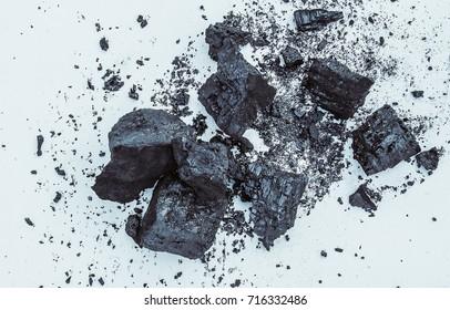 coal, mineral rocks