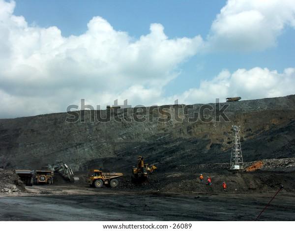 Coal mining activity