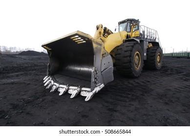 coal mining equipment. bulldozer, mine