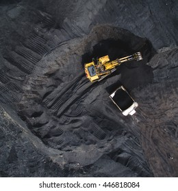 Coal mining on open pit