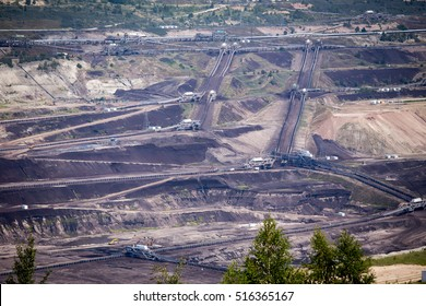 Coal mining and power station Belchatow, Poland