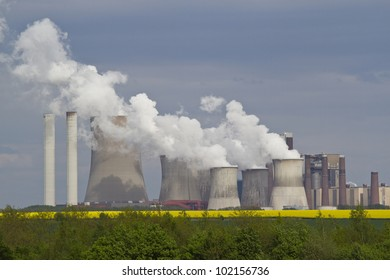 Coal and natural-gas fired power station in Germany, North Rhine-Westphalia