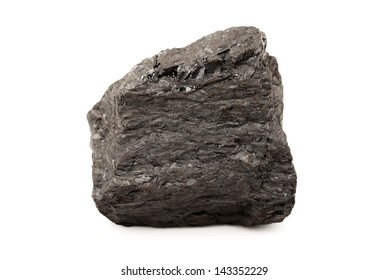 Coal on a white background