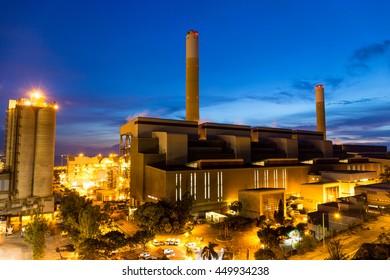 Coal Power plant at dusk