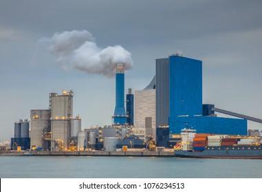 Coal powered power plant in Europoort, Maasvlakte Rotterdam