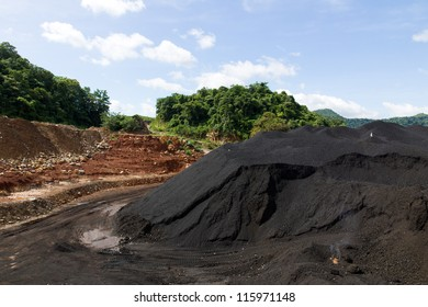 Coal Stock pile. used in the industry.