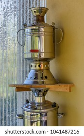 Coal tea samovar