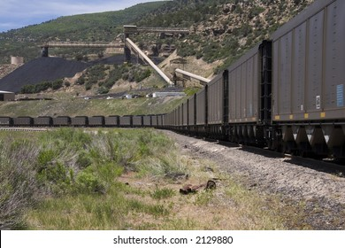 Coal train in western Colorado