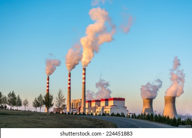 The Coal-Fired Power Plant in Inner Mongolia of China