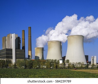 Coal-fired power plant Weisweiler, North Rhine-Westphalia, Germany, Europe