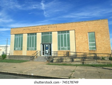COALGATE, OKLAHOMA—SEPTEMBER 2017: United States Post Office building in Coalgate, Oklahoma