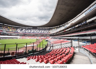 Coapa, Mexico City, August 8, 2016, general view of the interior of the Mexican Azteca football stadium