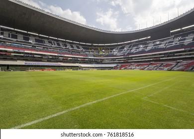 Coapa, Mexico City, February 4, 2017, playground of mexican soccer stadium Azteca