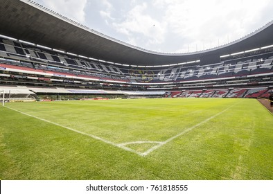 Coapa, Mexico City, February 4, 2017, ground level view of mexican soccer stadium Azteca home to eagles team america