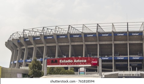Coapa, Mexico City, February 4, 2017, external view of mexican soccer stadium Azteca, home to team america eagles