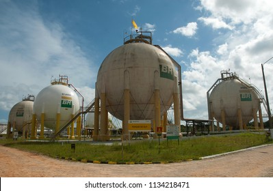 Coari, Brazil, September 7, 2006. Liquefied petroleum gas (LPG) deposit at the Coari refinery in the state of Amazonas.
