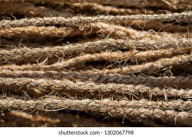 Coarse coconut rope background