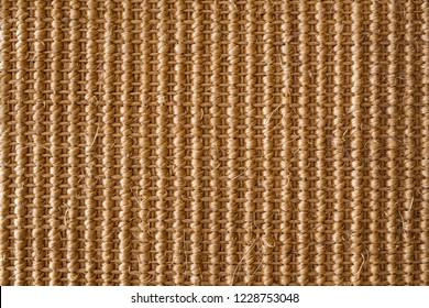 Coarse fabric made of sisal.