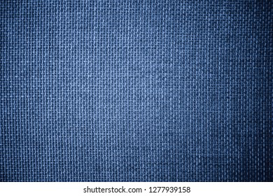 Coarse grained blue pattern and textured of burlap sack or sackcloth (Hessian) made of jute rope use for sacking or bagging