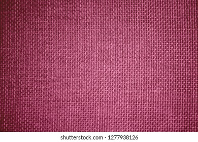 Coarse grained pink pattern and textured of burlap sack or sackcloth (Hessian) made of jute rope use for sacking or bagging