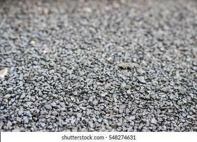 Coarse gravel, black and gray. Background texture