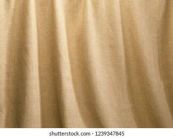 coarse linen fabric