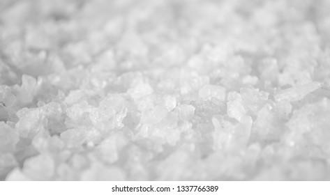 Coarse Salt Detailed Texture Background Macro closeup