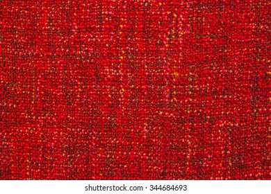 coarse woven red fabric