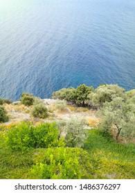 coast of aegean sea in greece