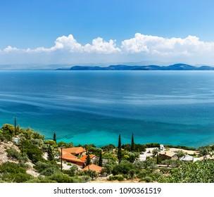 Coast of the Aegean Sea, Peloponnese. Near Astros.
