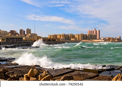 the coast of Alexandria, Egypt