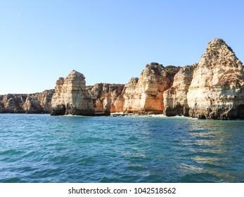 Coast at the Algarve at Lagos Portuga