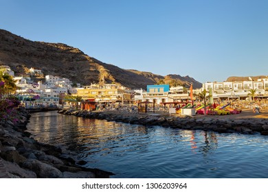 Coast with architecture in Puerto de Mogan, Little Venice in Gran Canaria