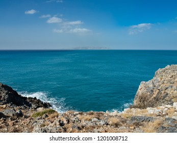 Coast around the capital of Heraklion, Crete island, Greece